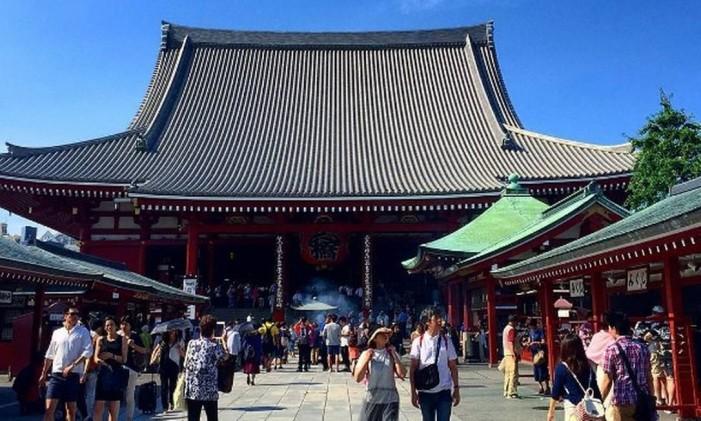 Templo de Asakusa, Tóquio Foto: @paula_lange_araujo / Instagram