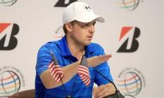 O golfista americano Jordan Spieth, número 2 do mundo, mais um nome da modalidade que coloca em dúvida sua presença na Rio-2016 Foto: SAM GREENWOOD / AFP