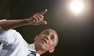 Em seu último ano de mandato, Barack Obama faz discurso em Washington Foto: MANDEL NGAN / AFP