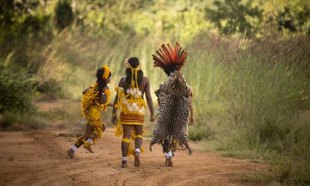 A aldeia Wasare, da tribo Parecis, em Campo Novo do Parecis