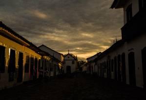 Fim de tarde em Paraty Foto: Bárbara Lopes / Agência O Globo