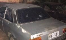 Carro em que o menino de 11 anos foi morto Foto: Conselho Estadual de Direitos Humanos