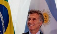 O presidente da argentina Mauricio Macri Foto: Pedro Kirilos / Agência O Globo