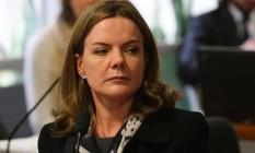 A senadora Gleisi Hoffmann (PT-PR) Foto: Ailton de Freitas / Agência O Globo