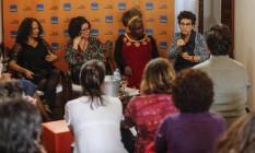 Abertura da Casa Itaú Cultural com as escritoras Ana Maria Gonçalves, Andrea Del Fuego, Conceição Evaristo e Maria Valeria Rezende Foto: Alexandre Cassiano / Agência O Globo