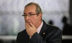 O deputado Eduardo Cunha (PMDB-RJ), presidente afastado da Câmara Foto: André Coelho / Agência O Globo / 10-11-2015