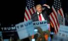 Trump faz discurso em Bangor, no Maine Foto: BRIAN SNYDER / REUTERS