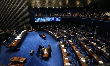 O plenário do Senado: reajustes aprovados Foto: Ailton de Freitas / Agência O Globo / 29-6-2016