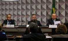 Sessão da comissão do impeachment Foto: Ailton de Freitas / Agência O Globo / 29-6-2016