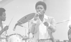 Sandra de Sá em apresentação no longínquo ano de 1980 Foto: Adir Mera / Agência O Globo