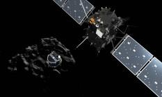 A sonda Rosetta vai encerrar sua missão no próximo dia 30 de setembro Foto: AFP