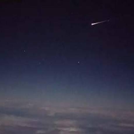 Cápsula espacial Cygnus queima na reentrada na atmosfera Foto: REPRODUÇÃO