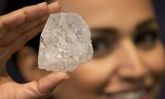 Maior diamante bruto a ser leiloado não recebeu lance mínimo em Londres Foto: Matt Dunham / AP
