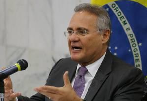 Entrevista com o senador Renan Calheiros (PMDB), presidente do Congresso Nacional Foto: Ailton Freitas / O Globo