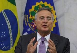 Entrevista com o senador Renan Calheiros (PMDB), presidente do Congresso Nacional. Foto: Ailton Freitas / Agência O Globo