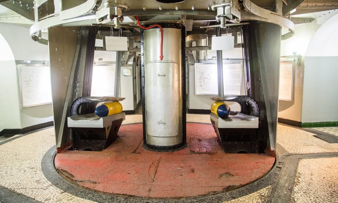 Base do canhão de 305 mm de longo alcance: rotação 360° Bárbara Lopes