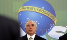 O presidente interino, Michel Temer Foto: Givaldo Barbosa / Agência O Globo / 30-6-2016