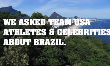 Trecho do vídeo do comitê americano exibe imagens de praias do Rio Foto: Reprodução