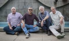 O Boca Livre, há 38 anos na estrada: Lourenço Baeta, Zé Renato, Maurício Maestro e David Tygel. Foto: Analice Paron