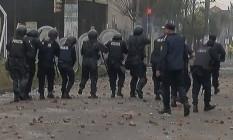 Manifstação virou confronto aberto em subúrbio portenho Foto: Reprodução