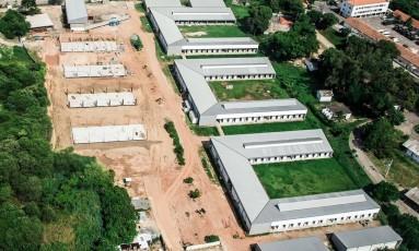 Do alto. O Centro de Hipismo em fevereiro: entrega de prédio da Vila dos Tratadores está marcada para segunda-feira Foto: Renato Sette Camara / Renato Sette Camara/21-2-2016