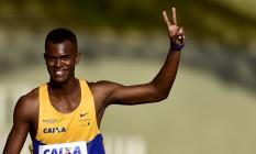 Vitor Hugo dos Santos vai representar o Brasil nos 100m Foto: WAGNER CARMO