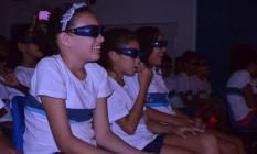 Crianças de escola pública aprendem com filmes em 3D no projeto Edupark Foto: Divulgação