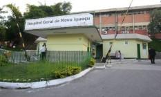 A fachada Hospital da Posse , em Nova Iguaçu Foto: Guilherme Pinto / Extra / Agência o Globo