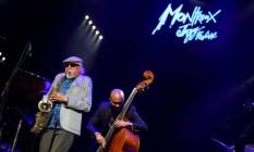 O músico americano Charles Lloyd no Festival de Montreux Foto: FABRICE COFFRINI / AFP