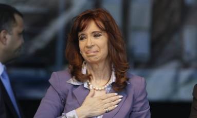 Cristina Kirchner e seu filho estão sendo investigados por suspeita de enriquecimento ilício e falsificação de documentos públicos Foto: Ricardo Mazalan / AP