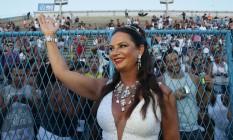 Ex modelo Luiza Brunet no Sambódromo do Rio Foto: Márcio Alves / Agência O Globo