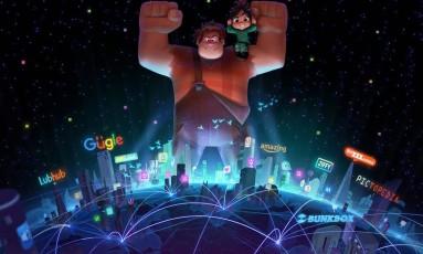Arte do novo filme dos personagens Ralph e Vanellope Foto: Disney / Reprodução