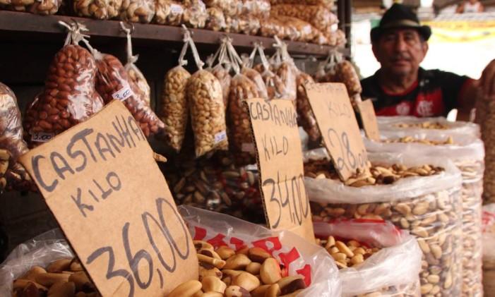 Mercado Ver-o-Peso, em Belém do Pará Foto: Eduardo Maia / O Globo