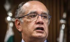 O ministro Gilmar Mendes, presidente do Tribunal Superior Eleitoral Foto: André Coelho / Agência O Globo / 29-6-2016