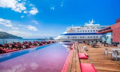 Cobertura do Pestana CR7 Funchal, novo hotel do qual Cristiano Ronaldo é sócio Foto: Tiago Sousa / Divulgaçao / Pestana Group