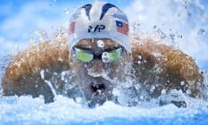 Michael Phelps durante eliminatórias nesta sexta-feira da seletiva americana Foto: Mark J. Terrill / AP