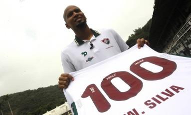Wellington Silva vai completar 100 jogos pelo Fluminense Foto: Nelson Perez