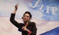Juliana Frank: 'Eu acho que escrever é sempre sobre sexo' Foto: Alexandre Cassiano / Agência O Globo