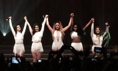 Fifth Harmony se despede do público após show no Rio Foto: Luccas Oliveira/O Globo