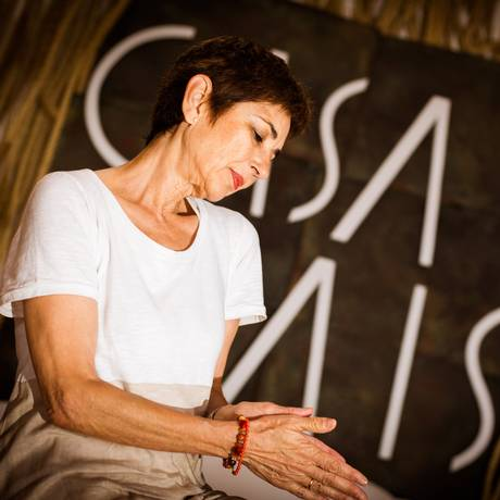 A tradutora Pilar del Río, viúva de José Saramago, participou de debate na Casa Cais Foto: Agência O Globo