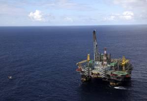 Plataforma da Petrobras Foto: Arquivo / Bloomberg