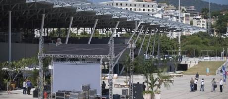 Cenário repaginado. A Marina da Glória após as obras para a Olimpíada Foto: Márcia Foletto - 07/04/2016 / Agência O Globo