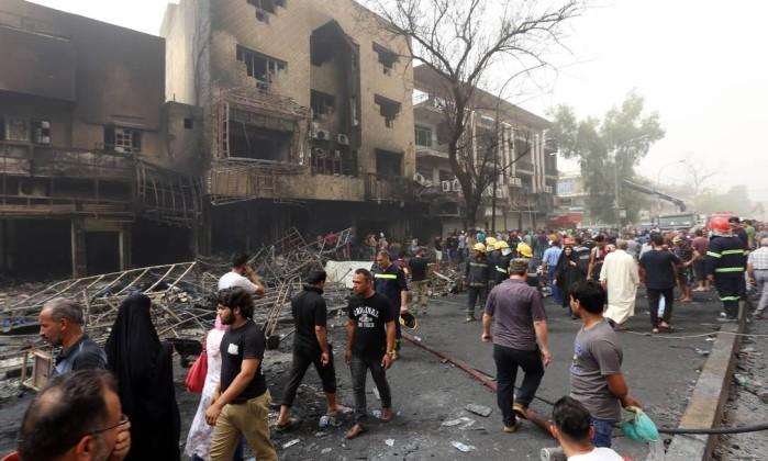 Atentado em Bagdá deixa 115 mortos