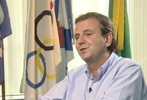 Prefeito Eduardo Paes faz críticas ao estado por problemas de segurança durante entrevista à CNN Foto: Reprodução