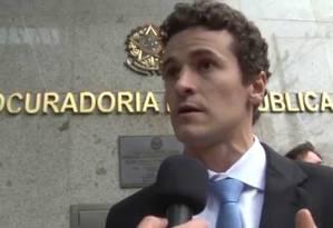 O procurador da Força-Tarefa da Lava-Jato, Roberson Pozzobon Foto: Reprodução/Youtube