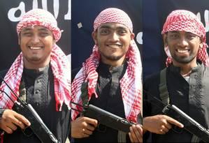 As fotos dos terroristas, divulgadas pelo Estado Islâmico Foto: - / AFP