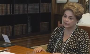A presidente afastada, Dilma Rousseff Foto: Reprodução