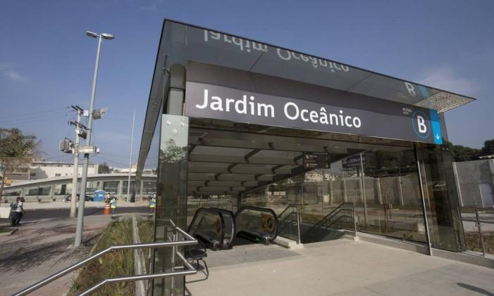 A Estação Jardim Oceânico da Linha 4 do metrô Foto: Márcia Foletto / Agência O Globo / 30-6-2016