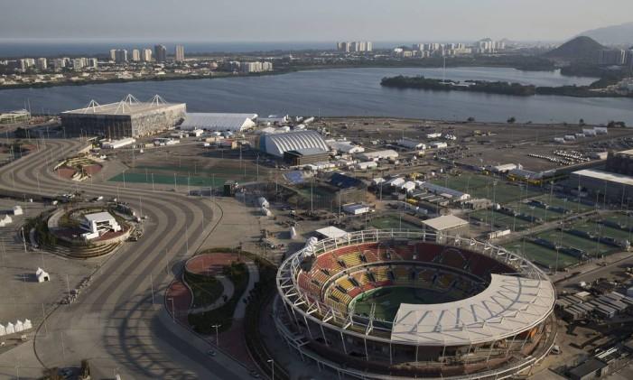 Vista aérea do Parque Olímpico Foto: Felipe Dana / AP / 4-7-2016