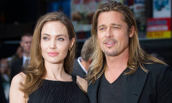 Angelina Jolie e Brad Pitt Foto: LEON NEAL/AFP